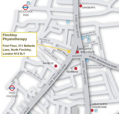 Finchley Physio Location